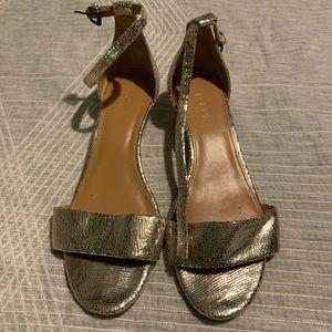 J.Crew Gold Sandals